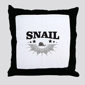 points of label of snail Throw Pillow