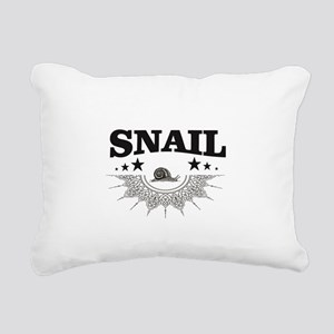 points of label of snail Rectangular Canvas Pillow