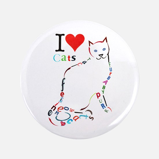 Cat Typography Button