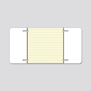 Window Blinds Background Aluminum License Plate