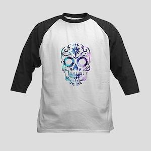 Blue & Purple Sugar Skull Baseball Jersey