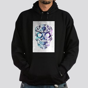 Blue & Purple Sugar Skull Hoodie (dark)