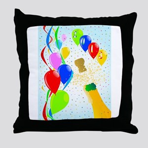 Champagne Party Throw Pillow