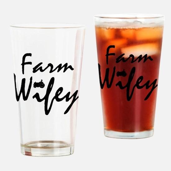 Funny Farm girls Drinking Glass