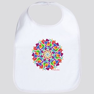 Stained Glass Mandala Bib