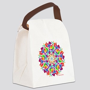 Stained Glass Mandala Canvas Lunch Bag