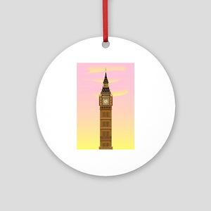 Big Ben at Dawn Round Ornament
