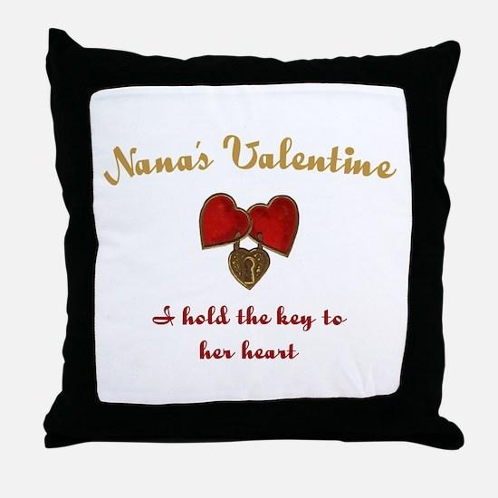 Nana's Valentine Throw Pillow