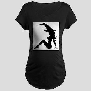 Trucker Witch Maternity T-Shirt