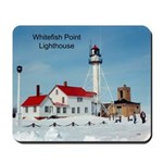 Whitefish Point Lighthouse Winter Mousepad