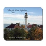 Whitefish Point Lighthouse Fall Mousepad