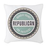 Trump For President Woven Throw Pillow