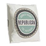 Trump For President Burlap Throw Pillow