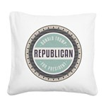 Trump For President Square Canvas Pillow