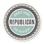Trump For President Round Car Magnet