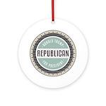 Trump For President Round Ornament