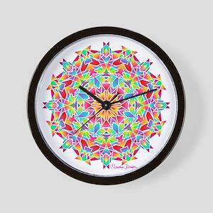 Psychedelic Porcupine Mandala Wall Clock