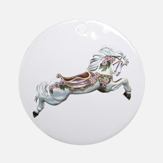 White Jumper Carousel Keepsake (Round)