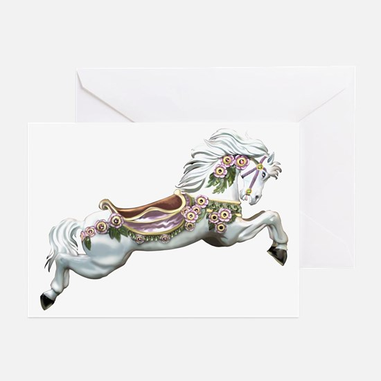White Jumper Carousel Greeting Cards (Pk of 10