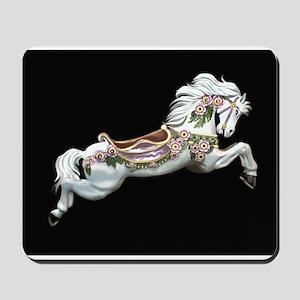 White Jumper Carousel Mousepad