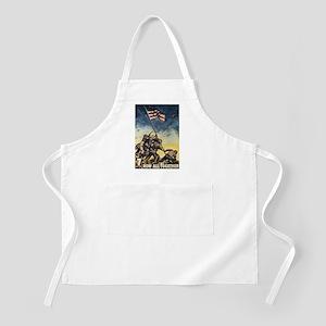 Iwo Jima Flag Raising BBQ Apron
