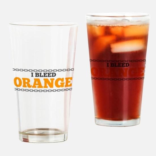 Bleed Orange Drinking Glass