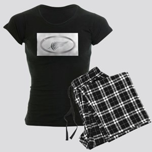 New Zealand Silver Fern Oval Women's Dark Pajamas