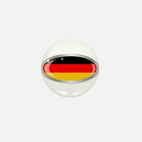 German Flag Oval Button Mini Button