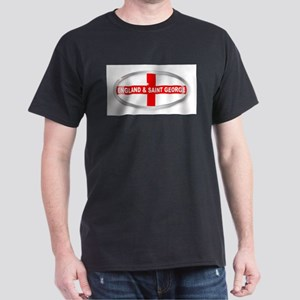 England and Saint George Oval Button T-Shirt
