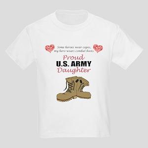 Proud US Army Daughter Kids Light T-Shirt