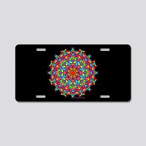 Psychedelic Porcupine Manda Aluminum License Plate