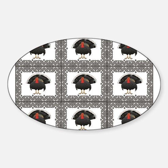 cubes of the turkey Decal