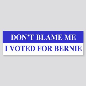 Voted For Bernie Bumper Sticker