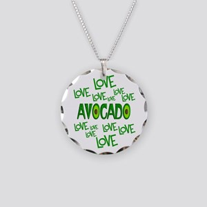 Love Love Avocado Necklace Circle Charm