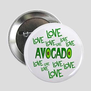 "Love Love Avocado 2.25"" Button (10 pack)"