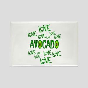 Love Love Avocado Rectangle Magnet