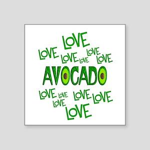 """Love Love Avocado Square Sticker 3"""" x 3"""""""