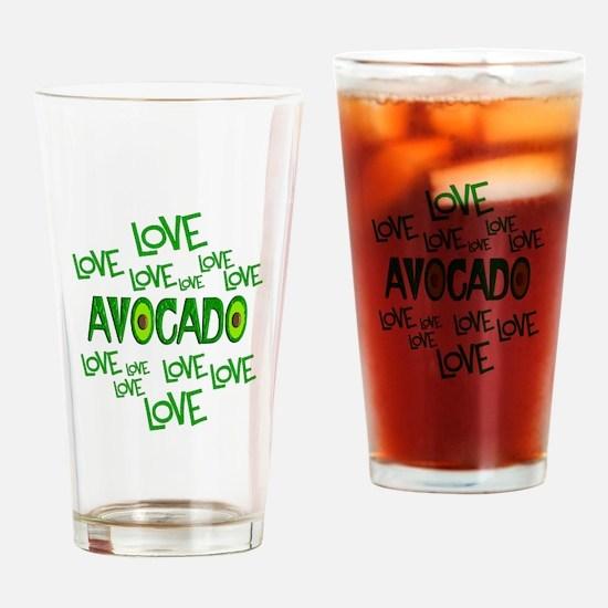Love Love Avocado Drinking Glass
