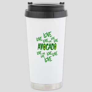 Love Love Avocado Stainless Steel Travel Mug