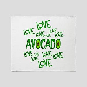 Love Love Avocado Throw Blanket