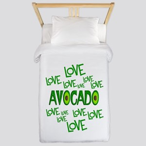 Love Love Avocado Twin Duvet