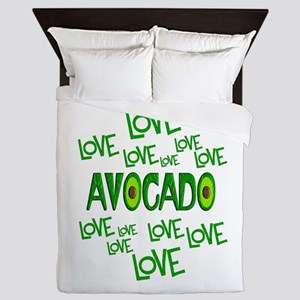 Love Love Avocado Queen Duvet