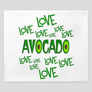 Love Love Avocado King Duvet