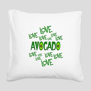 Love Love Avocado Square Canvas Pillow