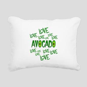 Love Love Avocado Rectangular Canvas Pillow