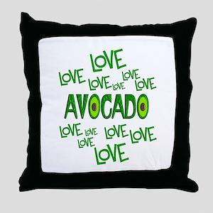 Love Love Avocado Throw Pillow