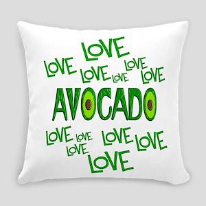 Love Love Avocado Everyday Pillow