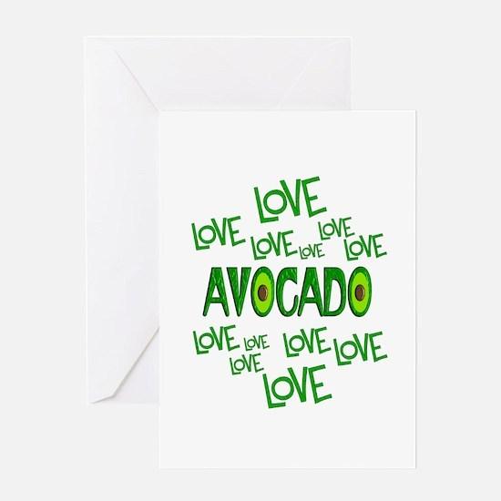 Love Love Avocado Greeting Card