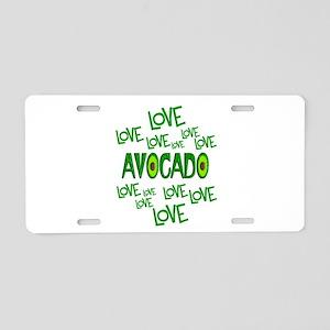 Love Love Avocado Aluminum License Plate