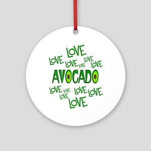 Love Love Avocado Round Ornament